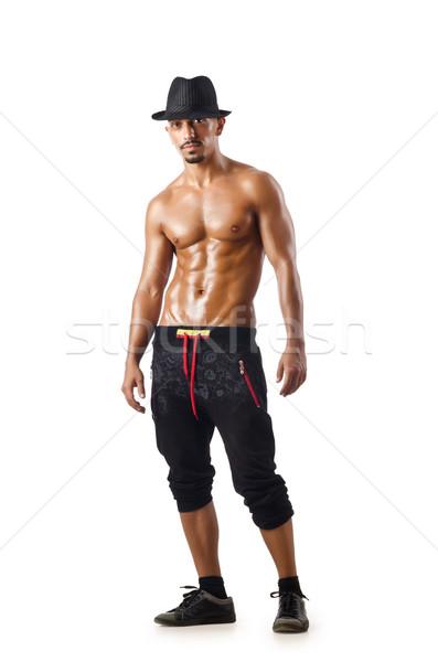 Táncos izolált fehér férfi divat modell Stock fotó © Elnur