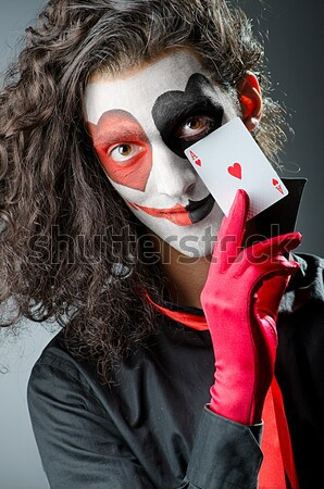 Funny joker with sharp knife Stock photo © Elnur