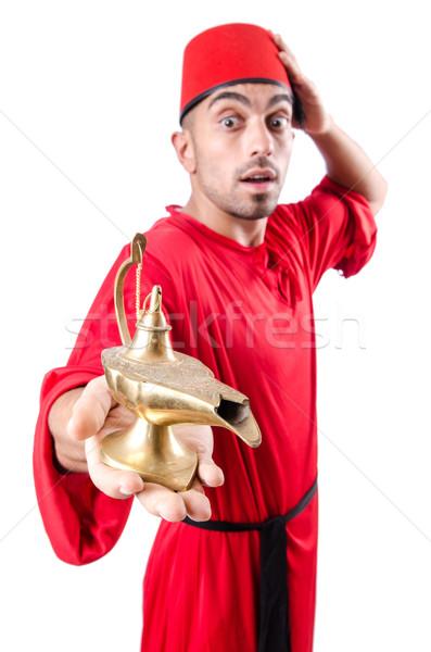 Turk man with lamp on white Stock photo © Elnur