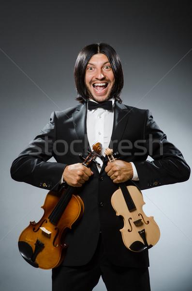 Man violin player in musican concept Stock photo © Elnur