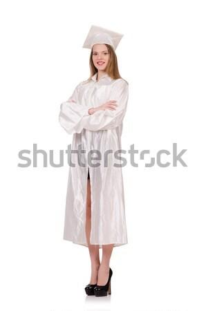 Graduate girl solated on white Stock photo © Elnur
