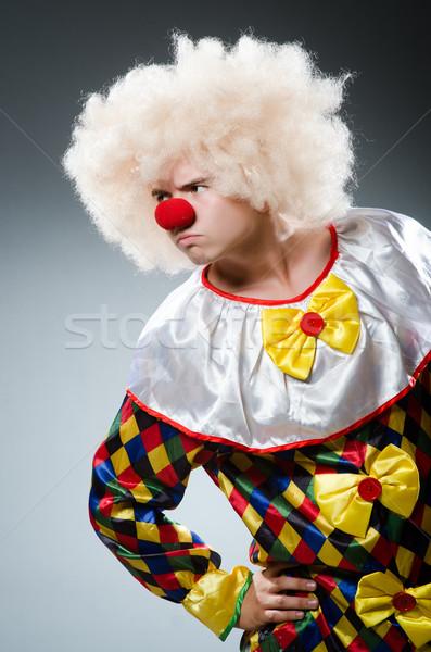 Vicces bohóc stúdió mosoly arc jókedv Stock fotó © Elnur