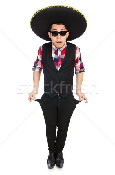 Komik Meksika geniş kenarlı şapka para mutlu Retro Stok fotoğraf © Elnur