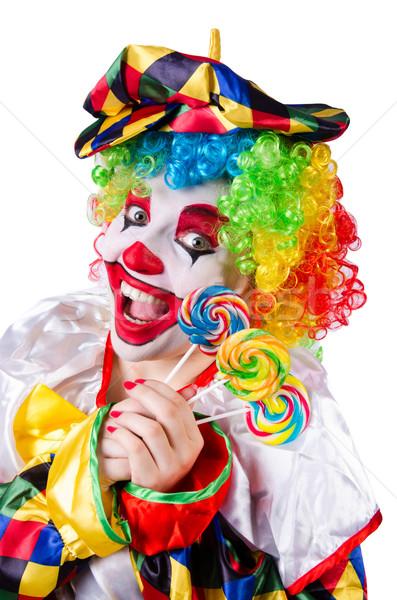клоуна леденец изолированный белый лице конфеты Сток-фото © Elnur