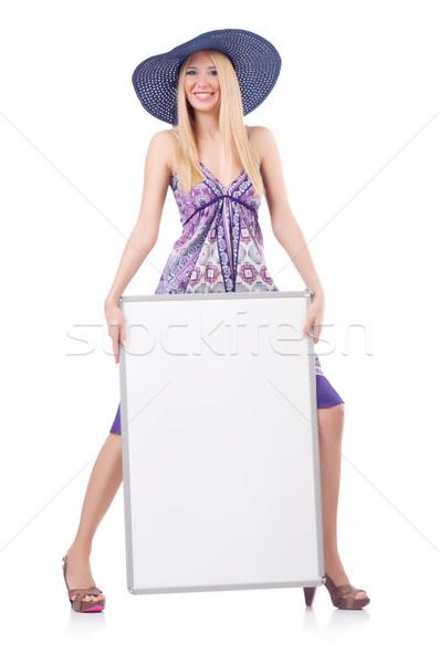 Mode Modell Raum Anzug hat Stock foto © Elnur