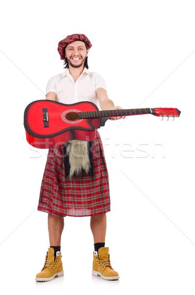 Jogar guitarra isolado branco música dançar Foto stock © Elnur