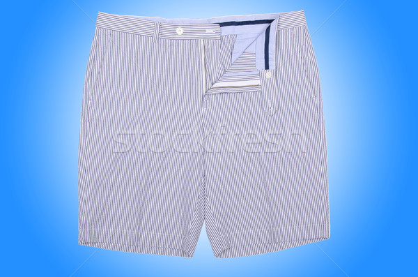 Homme short isolé blanche sport fond Photo stock © Elnur
