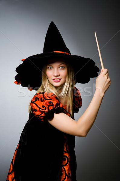 Bruxa sujo mão sorrir terno retrato Foto stock © Elnur