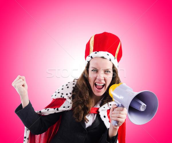 Kadın kraliçe komik çalışmak işadamı konuşmacı Stok fotoğraf © Elnur