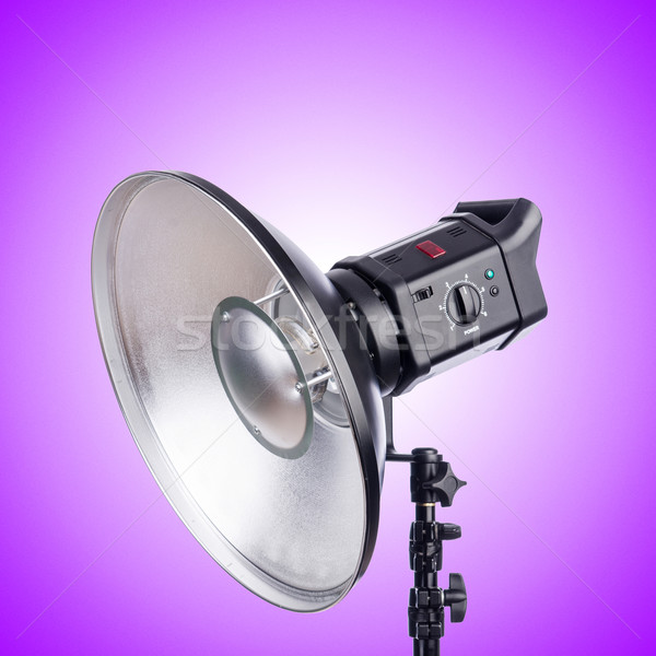 Studio light stand against the gradient Stock photo © Elnur