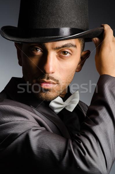 человека Hat Vintage бизнеса служба улыбка Сток-фото © Elnur