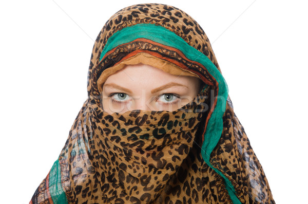 Woman wearing traditional clothing on white Stock photo © Elnur