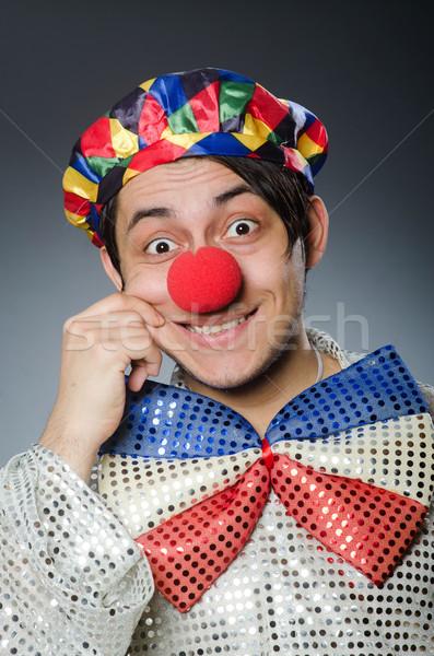 Funny payaso oscuro sonrisa fiesta feliz Foto stock © Elnur