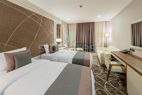 Stockfoto: Hotelkamer · moderne · interieur · huis · ontwerp · reizen