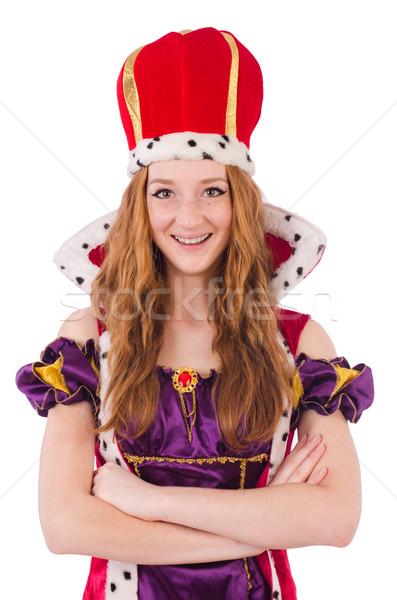 женщину королева изолированный белый работу красный Сток-фото © Elnur