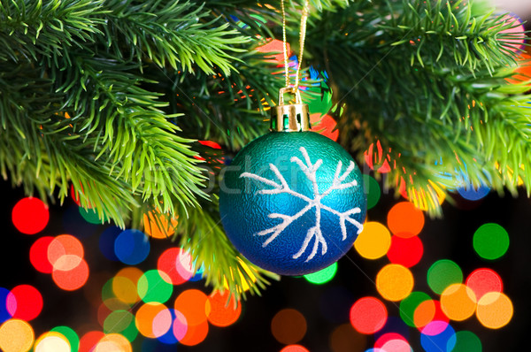 Christmas decoration on the fir tree Stock photo © Elnur