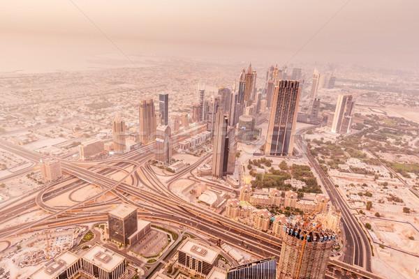 Panorama gece Dubai iş ofis şehir Stok fotoğraf © Elnur