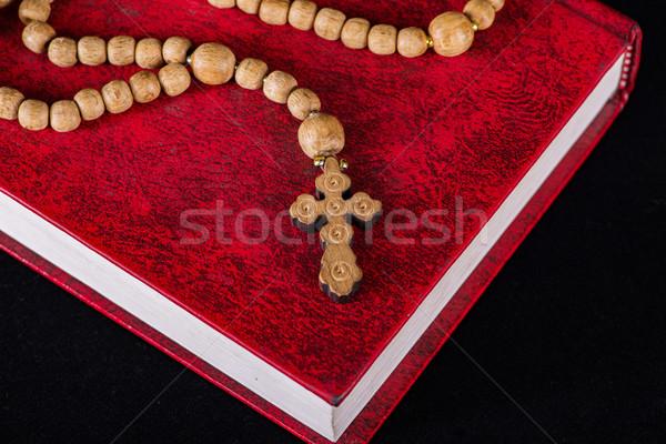 Biblia kereszt vallásos fa fény Jézus Stock fotó © Elnur