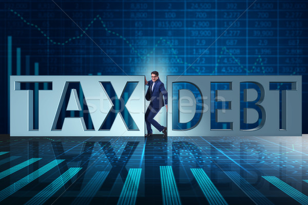 Businessman in tax and debt concept Stock photo © Elnur