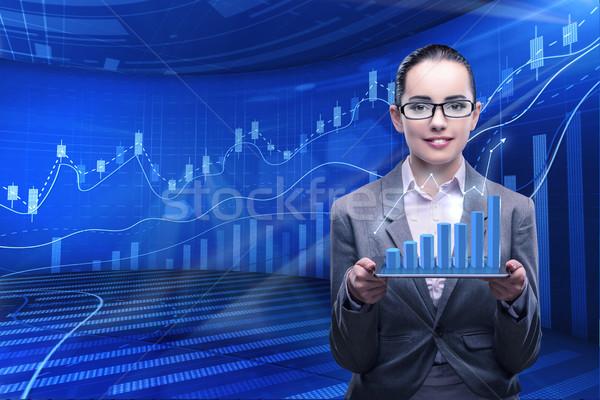 Femme d'affaires stock commerce affaires argent travaux Photo stock © Elnur