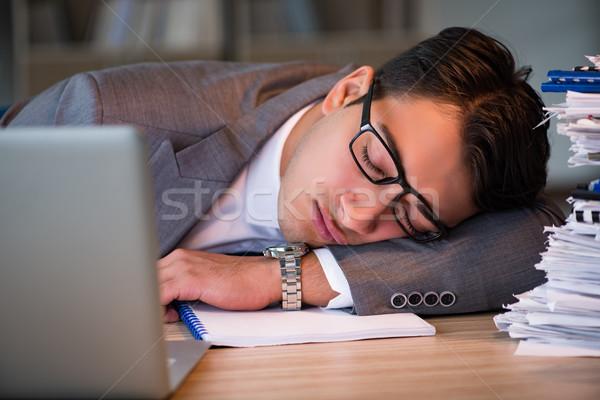 Zakenman kantoor lang man werk werknemer Stockfoto © Elnur