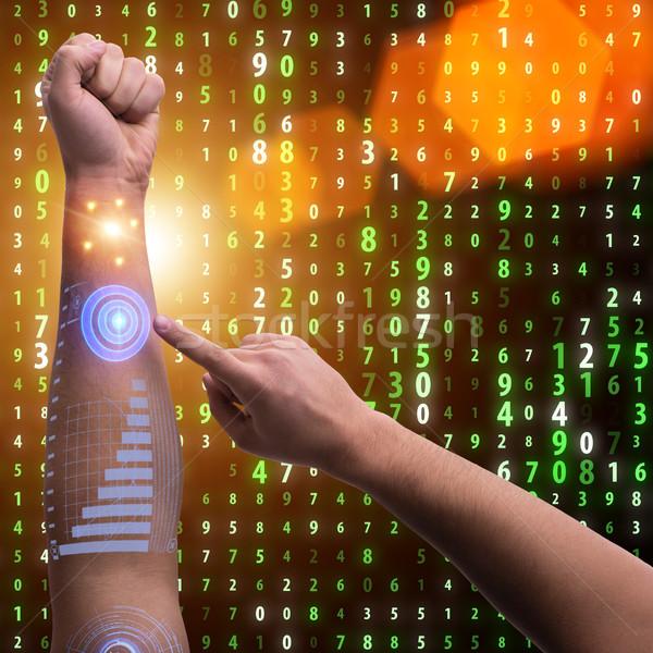 人間 ロボットの 手 未来的な ビジネス インターネット ストックフォト © Elnur