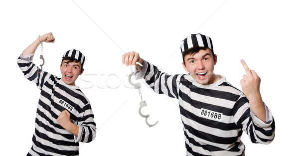 Funny prisión preso hombre fondo cadena Foto stock © Elnur