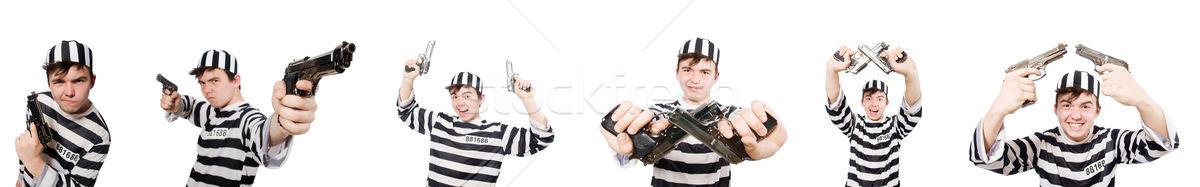 смешные тюрьмы заключенный человека фон пушки Сток-фото © Elnur