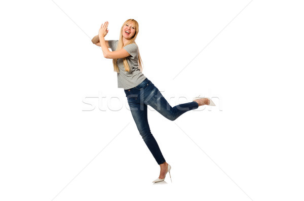 Nice woman model isolated on the white background Stock photo © Elnur