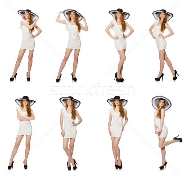 Mulher jovem moda mulher praia roupa camisas Foto stock © Elnur