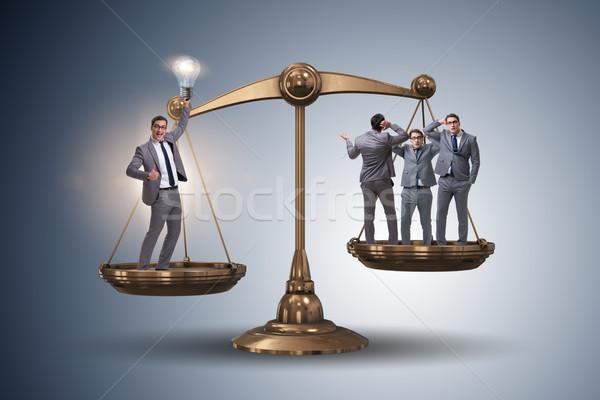Man idee meer belangrijk mensen ideeën Stockfoto © Elnur