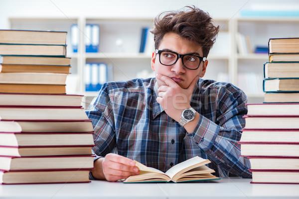 Nerd divertente studente Università esami istruzione Foto d'archivio © Elnur