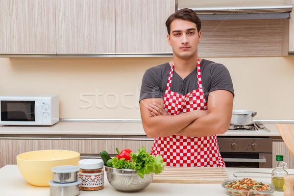 человека мужчины Кука кухне счастливым Сток-фото © Elnur