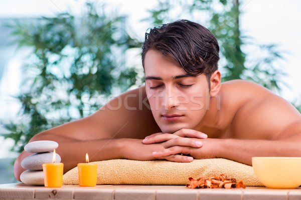 Handsome man during spa session Stock photo © Elnur