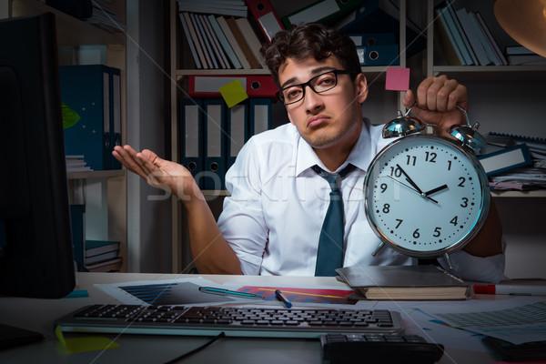 человека бизнесмен рабочих поздно служба бизнеса Сток-фото © Elnur
