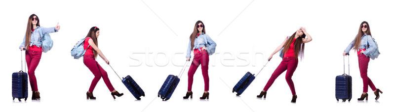 Fiatal nő kész nyári vakáció fehér üzlet nő Stock fotó © Elnur