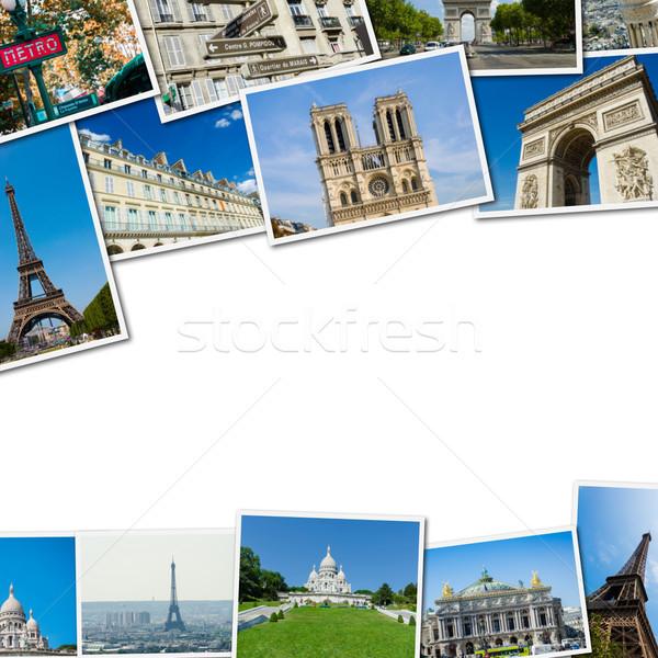 коллаж Париж фотографий коллекция пространстве путешествия Сток-фото © Elnur
