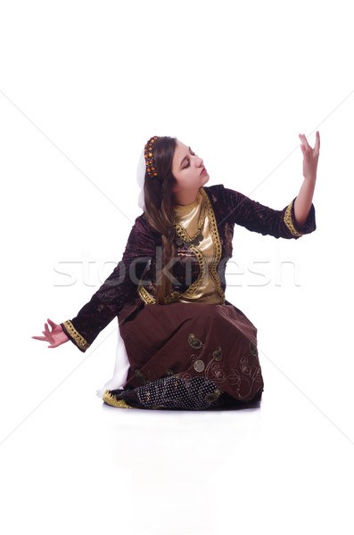 Young lady dancing traditional azeri dance Stock photo © Elnur