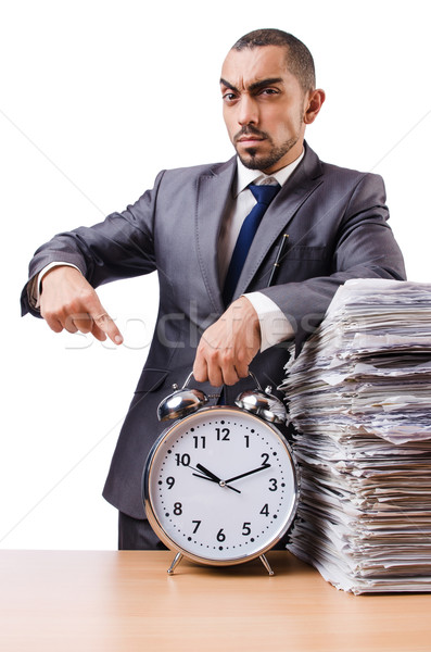 Homem não reunião prazos relógio trabalhar Foto stock © Elnur