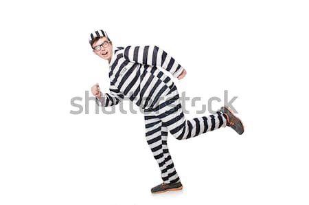 Criminal listrado uniforme guerra lei Foto stock © Elnur