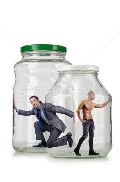 Glass empty jar isolated on white Stock photo © Elnur