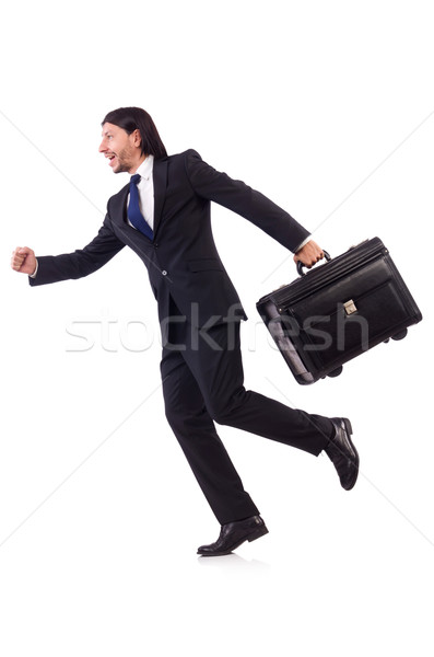 Businessman on business trip with luggage Stock photo © Elnur