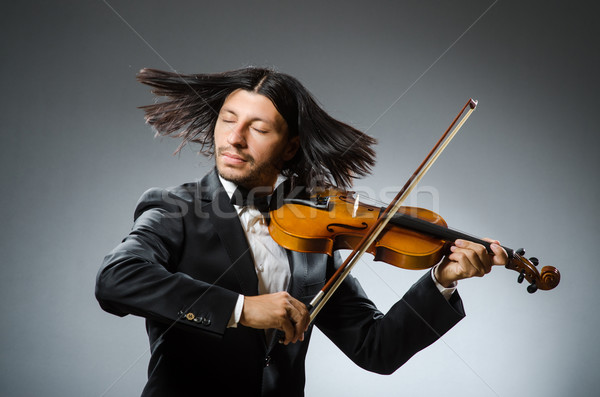 Man violin player in musican concept Stock photo © Elnur