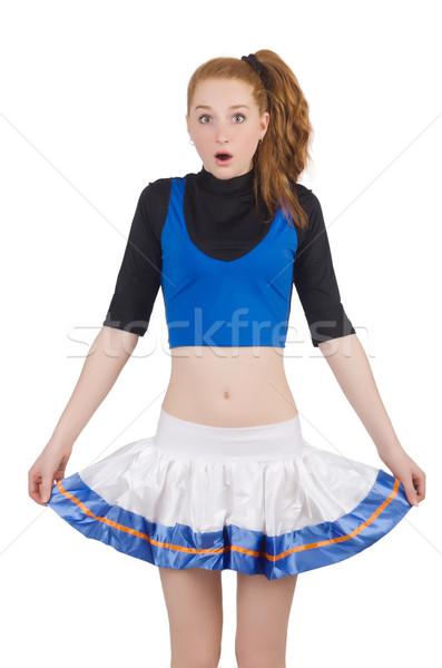 Cheerleader isolated on the white background Stock photo © Elnur