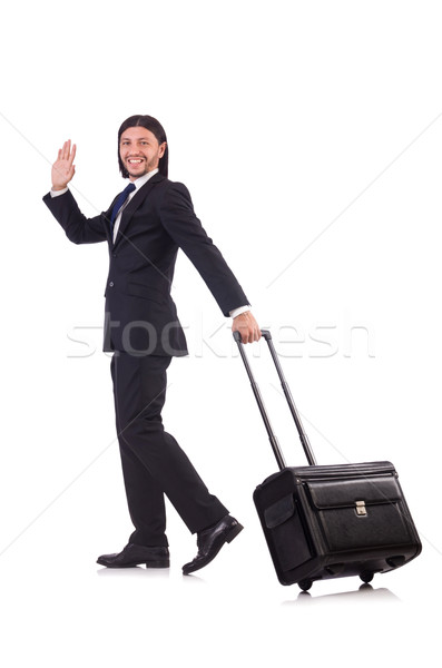 Işadamı iş gezisi bagaj iş arka plan seyahat Stok fotoğraf © Elnur