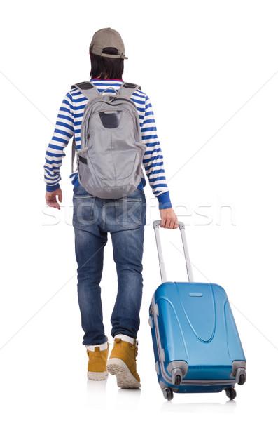 Turistica borse isolato bianco uomo sfondo Foto d'archivio © Elnur
