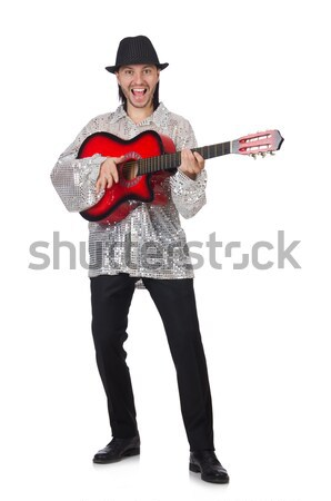 Nun with guitar isolated on the white Stock photo © Elnur
