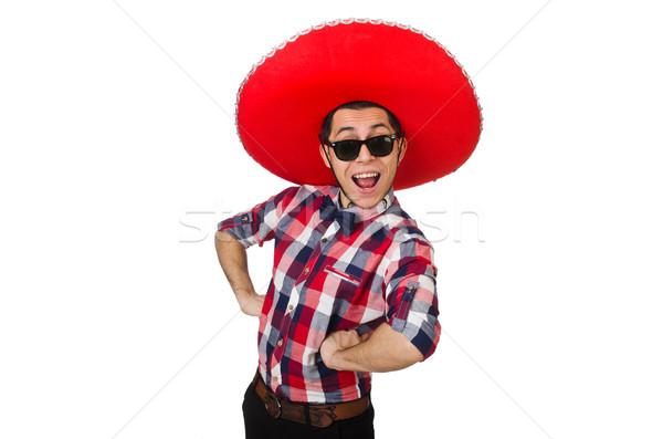 Engraçado mexicano sombrero cara feliz retro Foto stock © Elnur