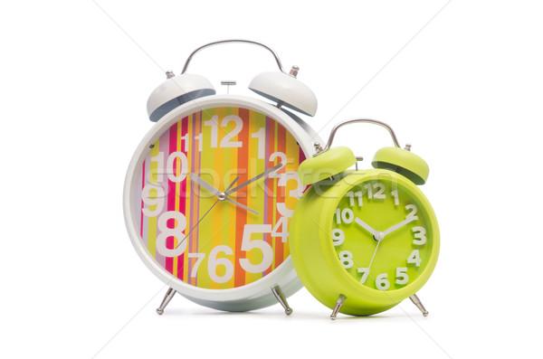 Alarm clock isolated on the white background Stock photo © Elnur