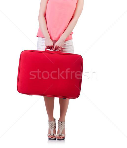 Młoda kobieta wakacje kobieta dziewczyna lotniska zabawy Zdjęcia stock © Elnur